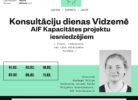 Plakāts par konsultāciju dienām novada NVO